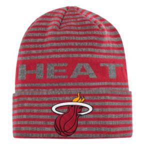 Men's adidas Miami Heat Striped Beanie