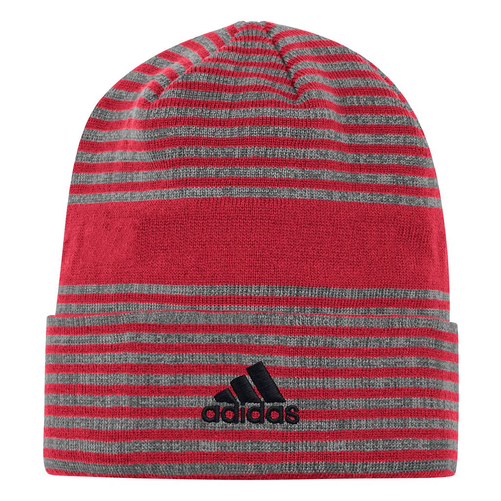 Men's adidas Miami Heat Striped Beanie