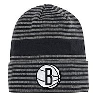 Men's adidas Brooklyn Nets Striped Beanie