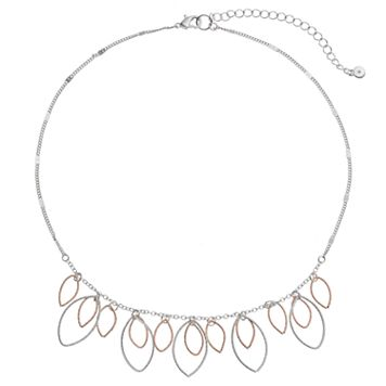 LC Lauren Conrad Two Tone Marquise Necklace