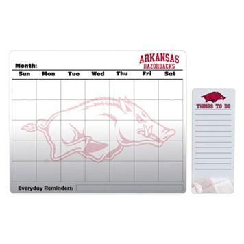 Arkansas Razorbacks Magnetic Dry Erase Calendar & To-Do Board Set