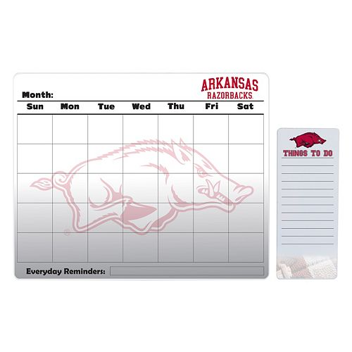 Arkansas Razorbacks Magnetic Dry Erase Calendar & To-Do Board Set