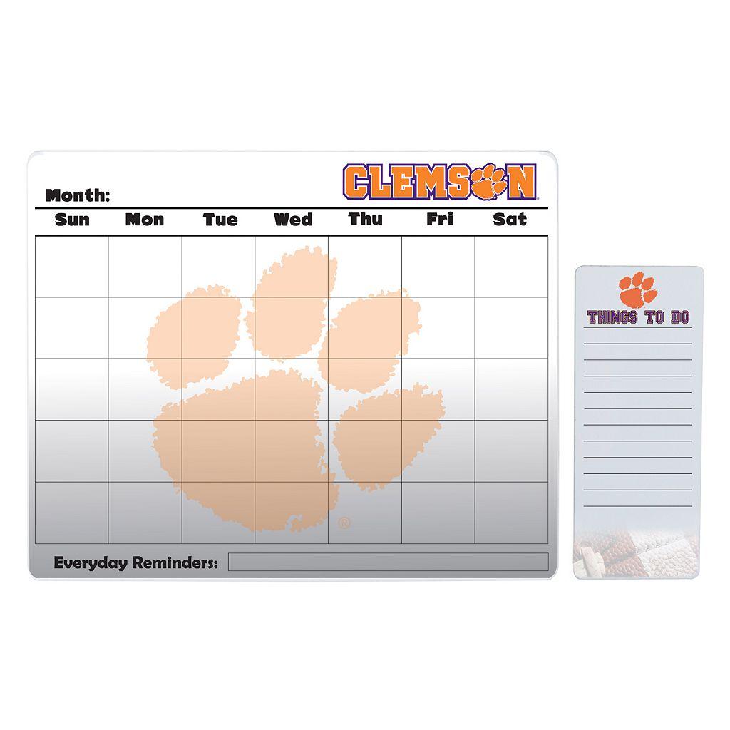 Clemson Tigers Magnetic Dry Erase Calendar & To-Do Board Set