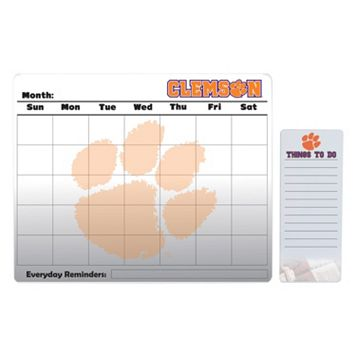 Clemson Tigers Magnetic Dry Erase Calendar & To-Do Board Set