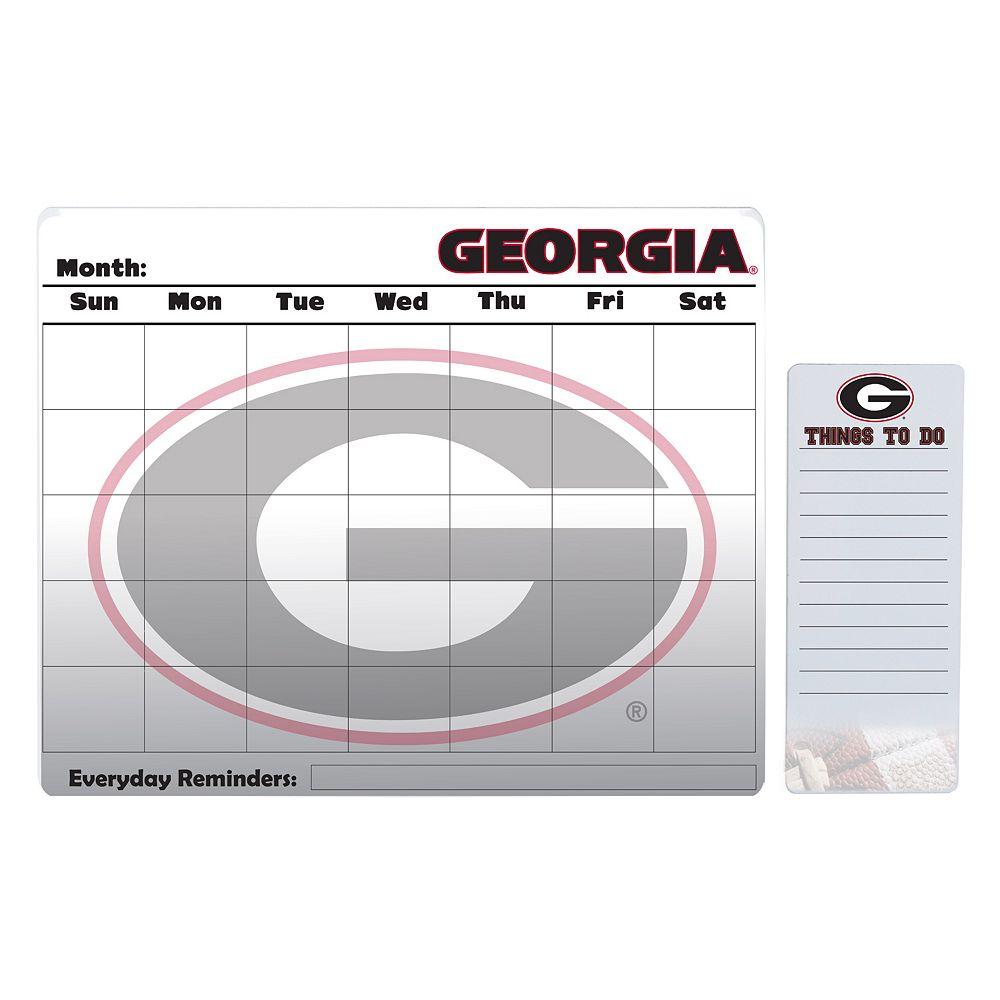 Georgia Bulldogs Magnetic Dry Erase Calendar & To-Do Board Set