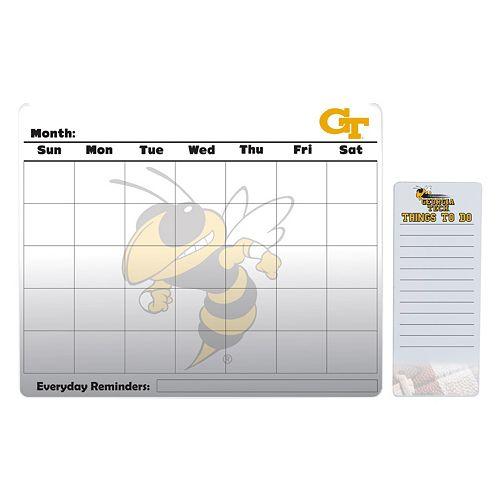 Georgia Tech Yellow Jackets Magnetic Dry Erase Calendar & To-Do Board Set