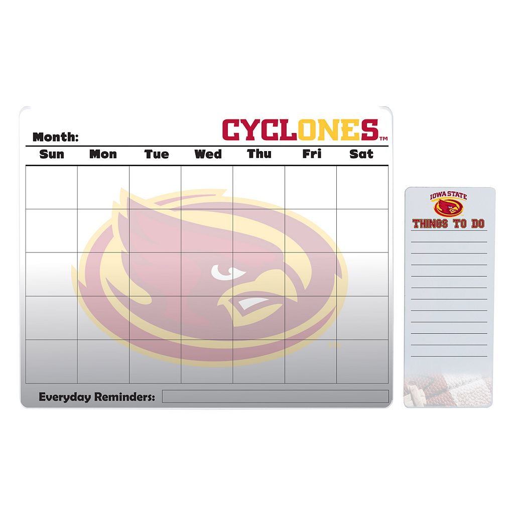 Iowa State Cyclones Magnetic Dry Erase Calendar & To-Do Board Set