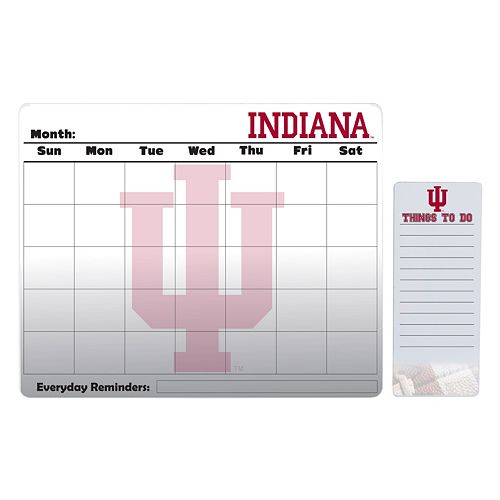 Indiana Hoosiers Magnetic Dry Erase Calendar & To-Do Board Set