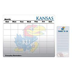 Kansas Jayhawks Magnetic Dry Erase Calendar & To-Do Board Set