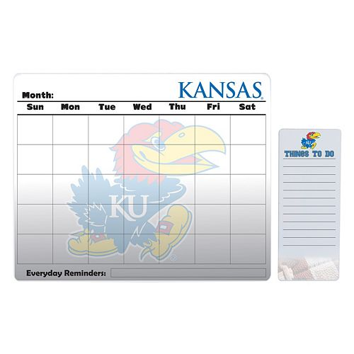 Kansas Jayhawks Magnetic Dry Erase Calendar & To-Do Board Set