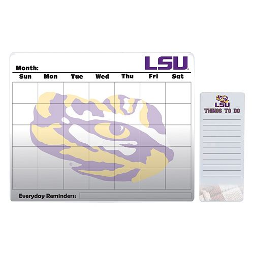 LSU Tigers Magnetic Dry Erase Calendar & To-Do Board Set