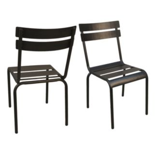 Rhea Stacking Metal Chair 2-piece Set