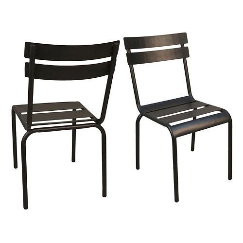 Rhea Stacking Metal Chair 2-piece Set