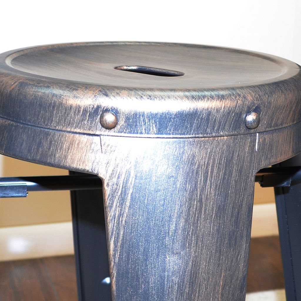 Ezra Metal Counter Stool 2-piece Set