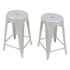 Ezra Metal Counter Stool 2 pc Set