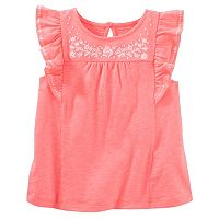 Girls 4-8 OshKosh B'gosh® Embroidered Flounce Top