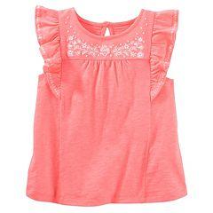 Girls 4-8 OshKosh B'gosh® Embroidered Flounce Top