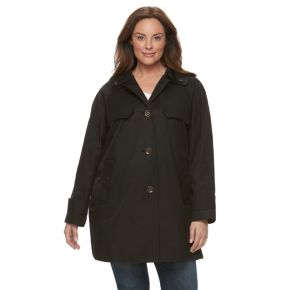Plus Size Towne by London Fog Button-Down Jacket