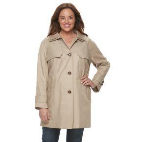 Plus Size Towne by London Fog Button-Down Jacket