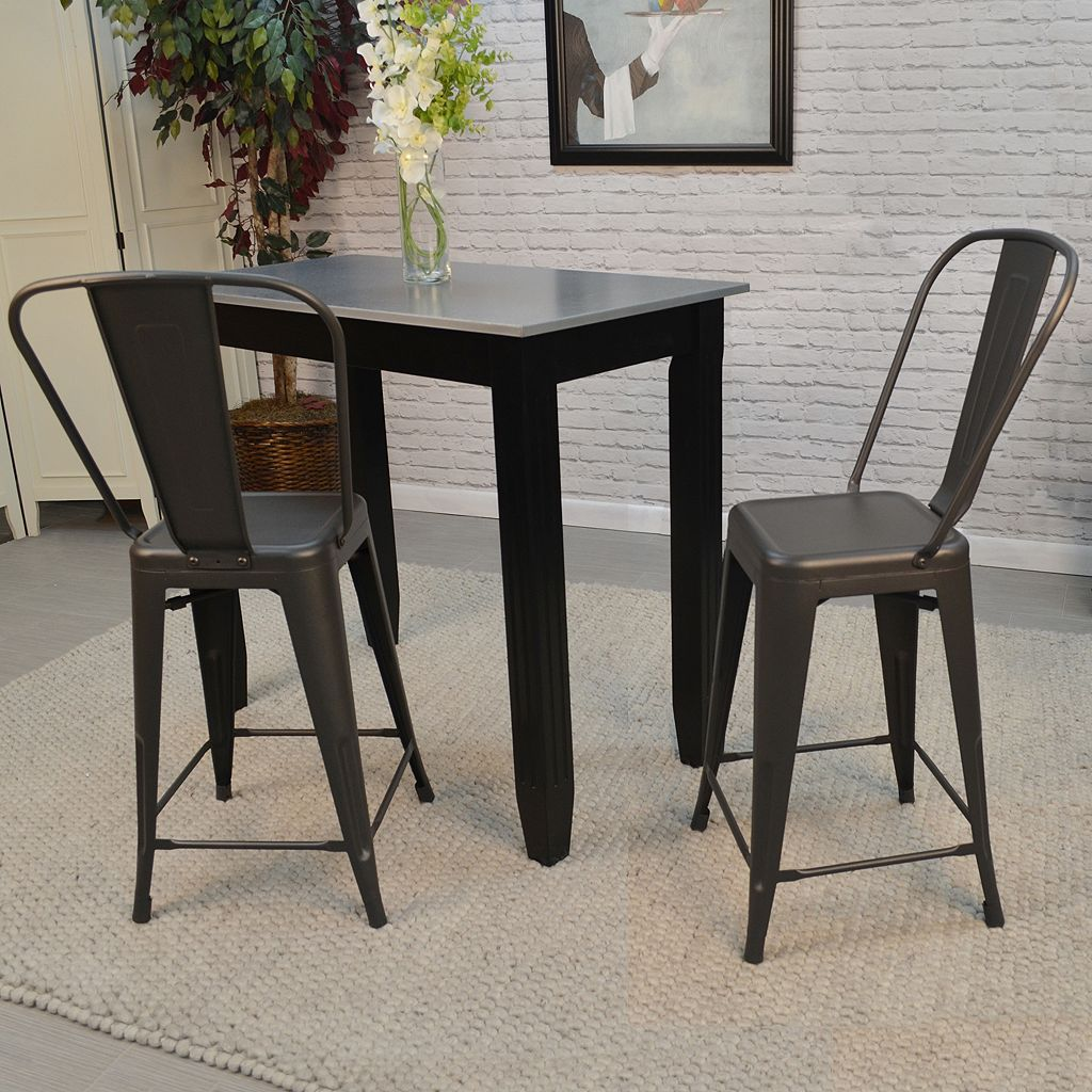 Adeline Stackable Counter Stool 2-piece Set