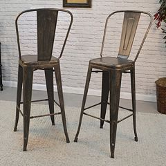 Adeline Stackable Bar Stool 2-piece Set