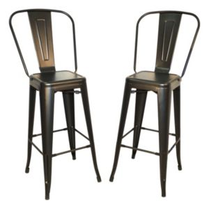 Adeline Stackable Bar Stool 2-piece Set