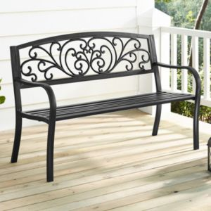 Linon Steel Patio Bench