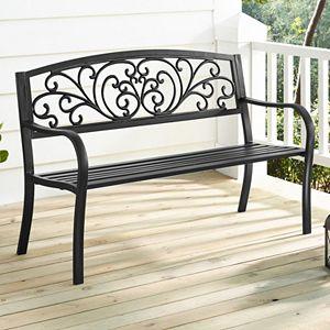 Linon Steel Patio Bench