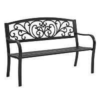 Linon Steel Patio Bench + $10 Kohls Cash