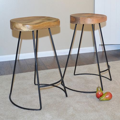 Saga Counter Stool 2-piece Set