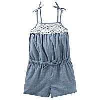 Girls 4-12 OshKosh B'gosh® Lace Chambray Romper