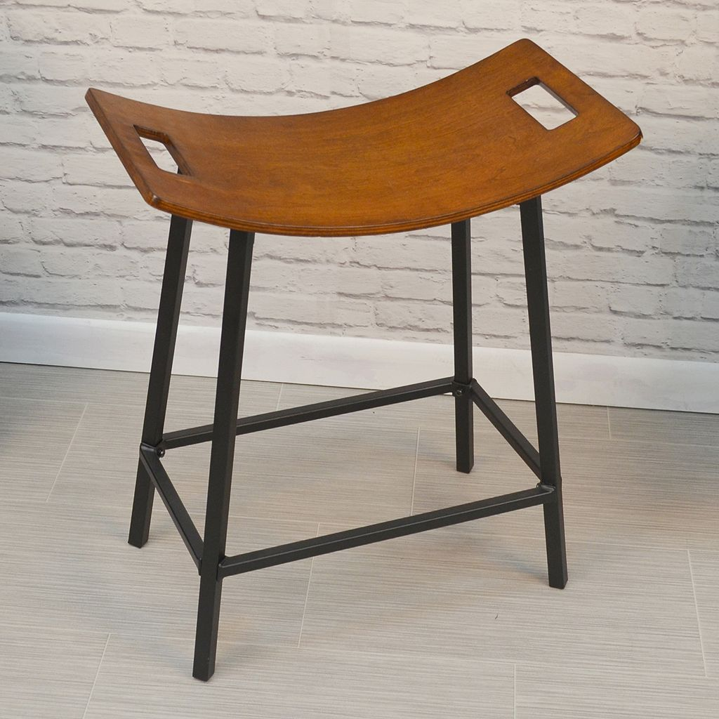 Gustav Saddle Seat Counter Stool