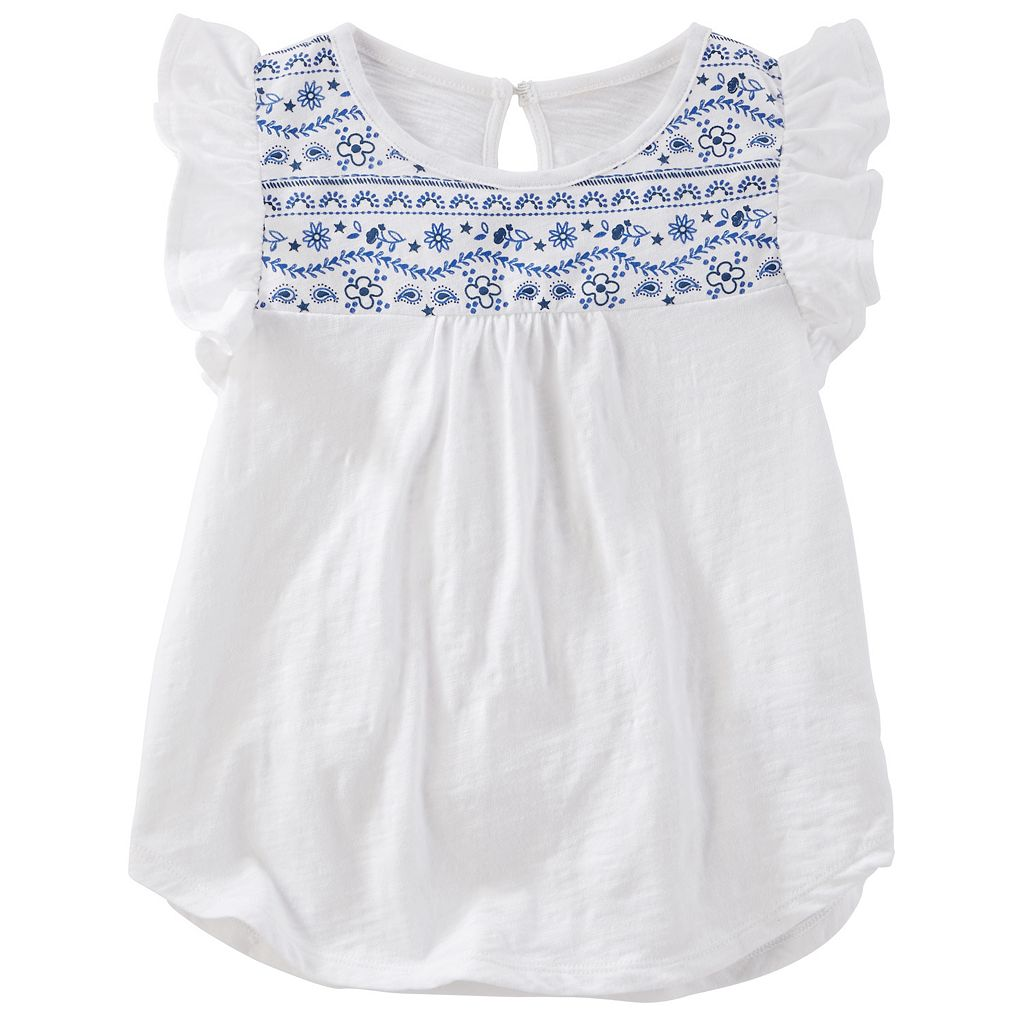 Girls 4-8 OshKosh B'gosh® Flutter-Sleeved Top