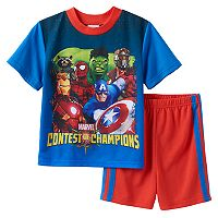 Boys Marvel Comics 2-Piece Pajama Set