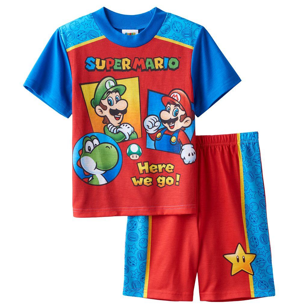 Boys 4-12 Super Mario Bros. 2-Piece Pajama Set