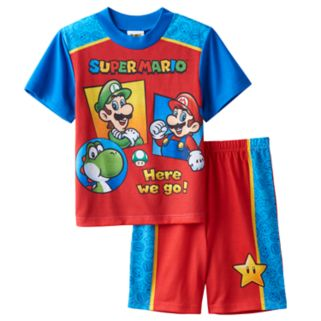 Boys 4-12 Super Mario Bros. 2-Piece Pajama Set