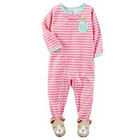 Baby Girl Carter's Striped Footed Pajamas