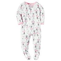 Baby Girl Carter's Printed Footed Pajamas