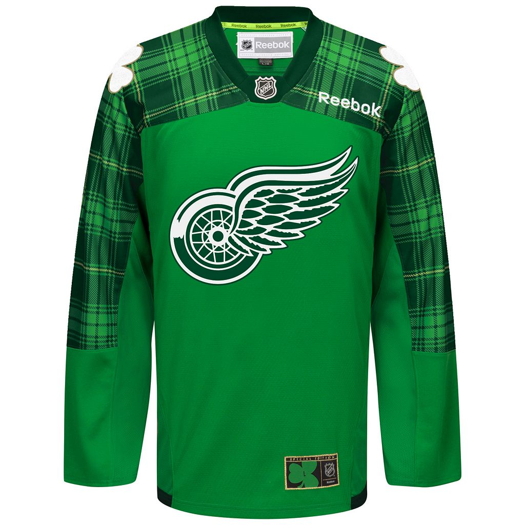Men's Reebok Detroit Red Wings St. Patrick's Day Jersey