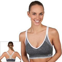 Jockey Sport Bra: Strappy Plunge Low-Impact Sports Bra 9202