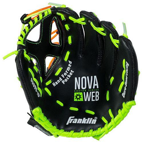 Franklin Sports 10-Inch Novaweb Custom Series Right Hand Throw Baseball Glove