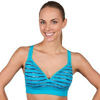 Jockey Sport Bra: Striped Space-Dye Medium-Impact Sports Bra 9210
