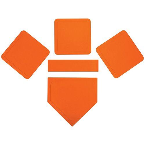 Franklin Sports Orange Throw Down Rubber Base Set