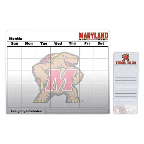 Maryland Terrapins Magnetic Dry Erase Calendar & To-Do Board Set