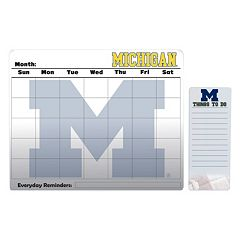 Michigan Wolverines Magnetic Dry Erase Calendar & To-Do Board Set