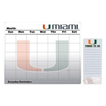 Miami Hurricanes Magnetic Dry Erase Calendar & To-Do Board Set