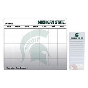 Michigan State Spartans Magnetic Dry Erase Calendar & To-Do Board Set