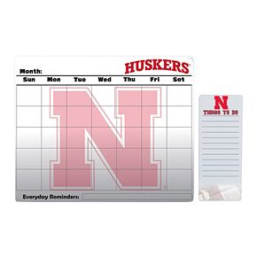 Nebraska Cornhuskers Magnetic Dry Erase Calendar & To-Do Board Set