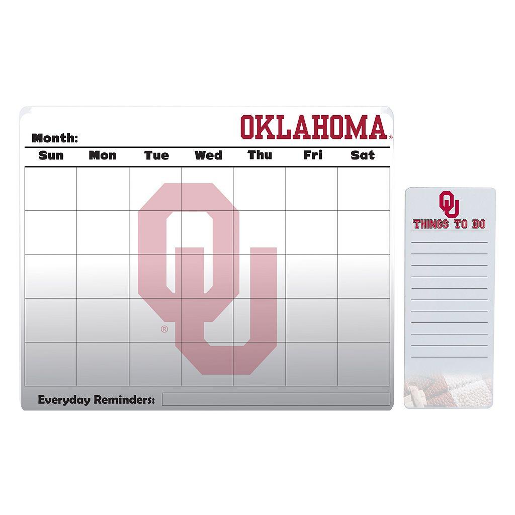 Oklahoma Sooners Magnetic Dry Erase Calendar & To-Do Board Set