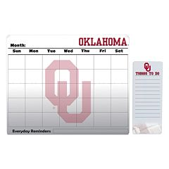 Oklahoma Sooners Magnetic Dry Erase Calendar & To-Do Board Set
